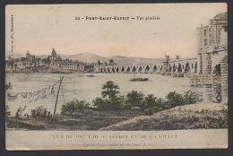 DF / 30 GARD / PONT-SAINT-ESPRIT / VUE GENERALE D'APRES LE DESSIN ORIGINAL TIRÉ DU CABINET DU ROI / CIRCULÉE EN 1913 - Pont-Saint-Esprit