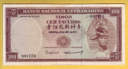 TIMOR - Billet De 100 Escudos. 25-04-63. Pick: 28a. SUP - Timor