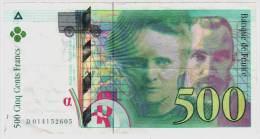Billet 500 Francs Pierre Et Marie Curie 1994 - 500 F 1994-2000 ''Pierre Et Marie Curie''