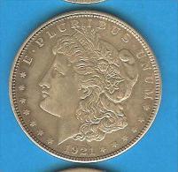 Monnaies ) USA - Amérique - One Dollar - Un Dollar - Morgan 1921 - Amérique Centrale