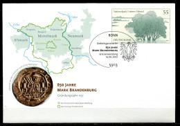 "Germany 2007 Plusbrief Mi.Nr.USo 135 Mark Brandenburg M.SST""Bonn-850 Jahre Mark Brandenburg ""1 Beleg - BRD"