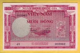 VIET NAM - Billet De 10 Dong. 1955. Pick: 3a. NEUF - Vietnam