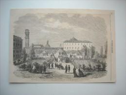 GRAVURE 1862. GUERRE D'AMERIQUE............ COMBAT DE FRONT-ROYAL, VIRGINE OCCIDENTALE............ - Stiche & Gravuren