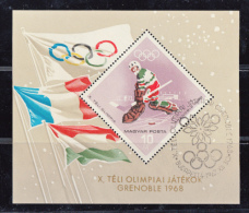 Grenoble 1968 - Magyar Posta Hockey Feuillet (Hockey) - Winter 1968: Grenoble