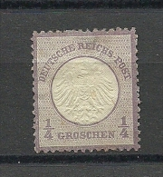 Deutsches Reich Michel Nr. 1:  1872, 1. Jan. Freimarken: Adler Mit Kleinem Brustschild (und Mit Sog. Aachener Krone) - Ongebruikt