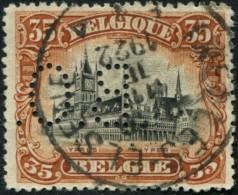 "COB  142 (o) / Yvert Et Tellier N° 142 (o)  Perfin / Perforé ""B.O."" - 1909-34"