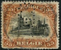 "COB  142 (o) / Yvert Et Tellier N° 142 (o)  Perfin / Perforé ""C.R."" - 1909-34"
