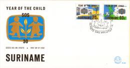 Republiek Suriname - FDC035 - Internationaal Jaar Van Het Kind - 30 Jaar Bestaan Van Het SOS-Kinderdorp - Z 183-184 - Suriname