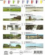 Netherlands 2014 Mint Sheet 175 Years Railway In The Netherlands, Old New Trains - Treinen