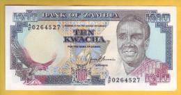 ZAMBIE - Billet De 10 Kwacha. 1989-91. Pick: 31b. NEUF - Zambia