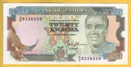 ZAMBIE - Billet De 20 Kwacha. 1989-91. Pick: 32b. NEUF - Zambia