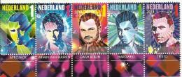 Netherlands 2014 Mint Block 5 Stamps KDJ Afrojack, Armin Van Buuren, Dash Berlin, Hardwell, Tiesto - Muziek