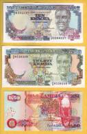 ZAMBIE - Lot De 3 Billets 10, 20 Et 50 Kwacha. 1989-91. Pick: 31b, 32b Et 37a. NEUF - Zambia
