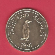 FALKLAND ISLANDS 1936 Abdicated Crown Pattern Proof---RARE - Falkland Islands