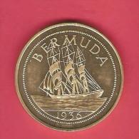 BERMUDA Edward VIII Abdicated Crown Pattern PROOF - Bermuda