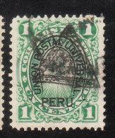 Peru 1883 Overprinted Triangle 1c Used - Peru