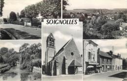 77 SOIGNOLLES  Multivues    Cpsm    2 Scans - Francia