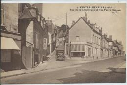Chateaurenault-Rue De La République Et Rue Pierre Moreau-(SÉPIA). - Andere Gemeenten