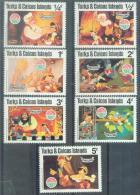 TURKS & CAICOS ISLAND 1994/1995 DISNEY,  7v, MNH - Disney