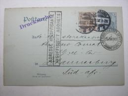 1902, Retourkarte  Aus Hamburg  Nach Johannisburg  , Rs. Textzudruck - Ganzsachen