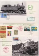 Feuille Commémorative Du 100ème Anniversaire Du Premier Train Sion - Sierre 1868 - 1968 - Valais - Wallis - SBB CFF - Chemin De Fer