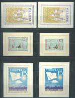 ALBANIE - 1964 - MNH/** UNPERF + PERF TOKYO 1964 OLYMPIC GAMES - Mi BL 19A 19B 22 26A 26B Lot 10780 LAST BLOG GRATIS - Albanien
