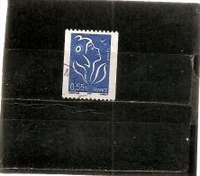 France 2005  Oblitéré  N° 3807   0,55€ Bleu  ( N° 383 En Noir Au Dos ) - 2004-08 Marianna Di Lamouche