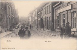 "23907g  RUE HAUTE - ""Brusten Jonkers Coiffeur Velos Machienen"" - Brée - 1903 - Rail - Bree"