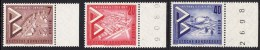!a! BERLIN 1957 Mi. 160-162 MNH SET Of 3 SINGLES W/ Right Margins (BZ) -International Construction Exhibition - [5] Berlin