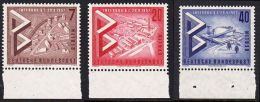 !a! BERLIN 1957 Mi. 160-162 MNH SET Of 3 SINGLES W/ Bottom Margins -International Construction Exhibition - [5] Berlin