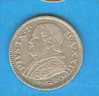 Monnaies ) Vatican - 10 Soldi 1868 R - Pius IX  - Argent - Vatican