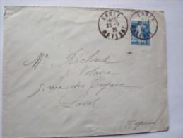 53 ERNEE - Cachet Manuel Du 23-3-1925 Sur Enveloppe Entière - Postmark Collection (Covers)