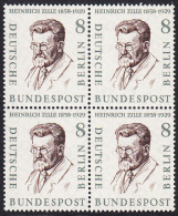 !a! BERLIN 1957 Mi. 164 MNH BLOCK -Famous Berlin Men: Heinrich Zille - [5] Berlin