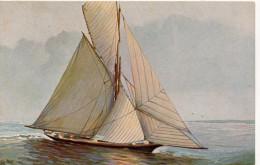 Nr.  3353 ,  AK  Französische Segeljacht - Warships