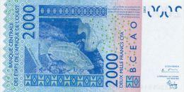 COTE D'IVOIRE : 2000 Frcs 2004 (unc) - Costa De Marfil