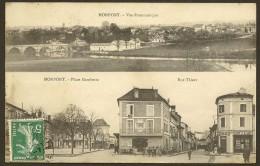 MONTPONT Rare Vue Panoramique Place Gambetta Et Rue Thiers  Dordogne (24) - France