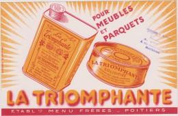 Buvard :   Poitiers ,  La  Triomphante - Buvards, Protège-cahiers Illustrés