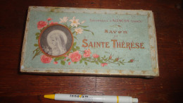 14 V - Belle Boite Ancienne En Carton Savon De Sainte Thérèse Savonnerie D'Alençon France Décor Fleur De Lys - Parfums & Beauté