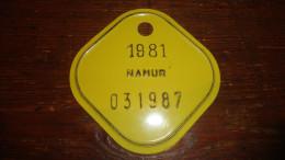 14 V - Vélo Cyclisme Namur 1981 - Plaques D'immatriculation