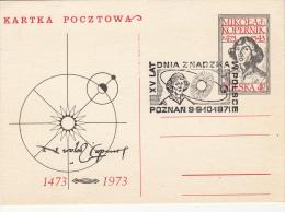 ASTROLOGY, NIKOLAUS COPERNICUS, PC STATIONERY, ENTIER POSTAUX, 1972, POLAND - Astrology