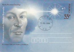 ASTROLOGY, NIKOLAUS COPERNICUS, PC STATIONERY, ENTIER POSTAUX, 1998, POLAND - Astrology