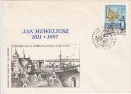ASTROLOGY, LJAN HEWELIUSZ, CONSTELATIONS, COVER FDC, 1987, POLAND - Astrology