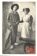 Cp, Folklore, Types Bourbonnais, Voyagée 1908 - Costumi