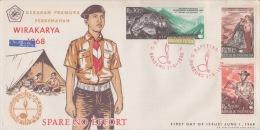 REPUBLIQUE INDONESIE SCOUT 1-6-1968 +20-12-1966 - Indonesien