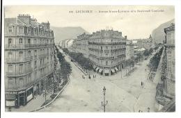 Cp, 38, Grenoble, Avenue Alsace Lorraine Et Le Boulevard Gambetta, écrite - Grenoble