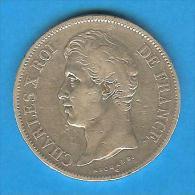 Monnaies ) 5 Frs -  Charles X - 1828 - W - Lille- - J. 5 Francs