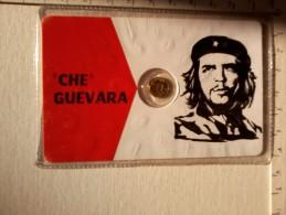 Ernesto Che Guevara - Cartoncino Con Medaglietta . - Gettoni E Medaglie