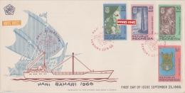 REPUBLIQUE INDONESIE  LOT DE DEUX ENVELOPPES 1964+1966 - Indonesien