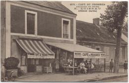 72 - Arnage - Etablissement E. Loiseau - Café & Articles De Pêche Du Progrès - Très Belle Animation - France