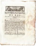LETTRES PATENTES DU ROI  -  CONCERNANT LA DIXME JUIN  1790  -  4  PAGES - Décrets & Lois